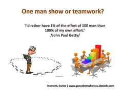 One man show or teamwork? Getting rich as fast as possible or building a system that in the long run makes you free? Working as an employee for the sake of other people's wealth or working for your own success? The most common questions that arise when people are thinking about their future and possibilities....
