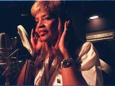 Songwriter Sylvia Moy in her Masterpiece Studios in