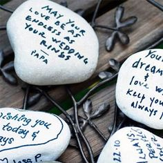 Wishing Stones Guest Book Alternative