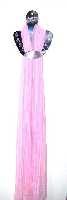 Beautiful Pink Scarf 72 Inches Long