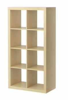 """Ikea Expedit Bookcase Room Divider Cube Display by Ikea. $106.99. Product dimensions Width: 31 1/8 """" Depth: 15 3/8 """" Height: 58 5/8 """" Max load/shelf: 29 lb Good to know This furniture must be secured to the wall with the enclosed anti-topple device. Different wall materials require different types of fasteners. Use fasteners suitable for the walls in your home (not included). Two people are needed to assembly this furniture. duct description Main parts: Particleboard, Fiberboard..."""