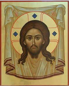 Icon of Christ not made by human hands (The Holy Face/Holy Napkin) Russian Icons, Byzantine Art, Art Icon, Orthodox Icons, Ikon, Jesus Christ, Christianity, Oriental, Faith