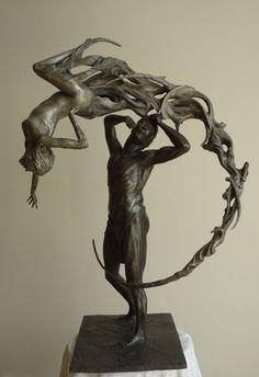 #Bronze #sculpture by #sculptor Scott Shore titled: 'Remanents of A Woman (Small…