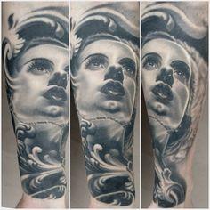 Bride of Frankenstein Tattoo by Nikko Hurtado