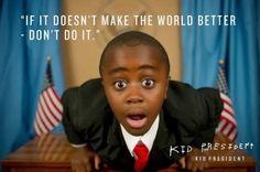 Kid President, il piccolo presidente che parla come un grande uomo.