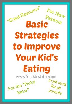 Detailed tips to establish good eating habits for babies or improve your toddler or child's eating (even if they are teenagers!).