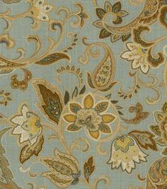 Home Decor Print Fabric Swavelle Millcreek Bridgehampton Polar Blue Hi Res