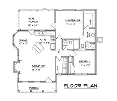 southern style home, one level, 1094 sq ft,  open floor plan. 2 bed, 2 bath