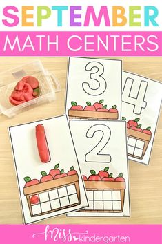 Use these colorful play doh mats in your math centers this September! Students will love identifying the number, rolling up the playdoh and placing the correct number in the tens frame! This is a great fine motor activity for morning work or work math rotations! Beginning Of Kindergarten, Miss Kindergarten, Kindergarten Math Activities, Literacy Skills, Kindergarten Literacy, Literacy Centers, Toddler Learning, Fun Learning, Number Sense Activities
