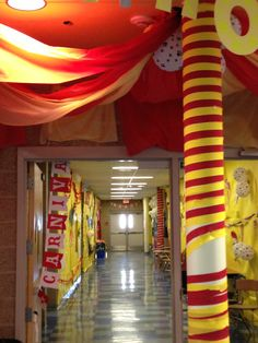 Under the big top hall decorations! Sophomores win!
