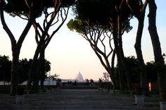 Views from Giardino degli Aranci (Garden of the Oranges) in Rome, #Italy