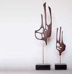 Mid Century Modern Abstract Art Sculpture Danish Mod 50s 60s   eBay