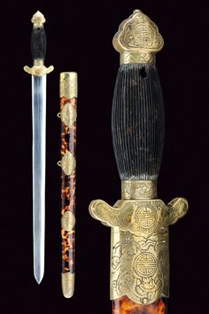 OBSESSED WITH WEAPONS.  Jian (sword), China, late 19th century.