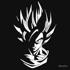 Dragon Ball Super Saiyan Black and White - Visit now for 3D Dragon Ball Z shirts now on sale!