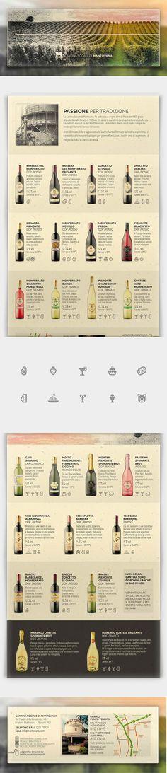 Brochure pieghevole a sei ante focalizzata sulla storicità della cantina e sulla sua ampia gamma di vini. Stampata su carta naturale Fedrigoni Woodstock Betulla.