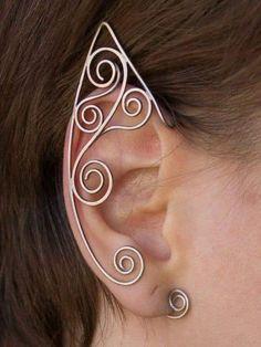 Fake Piercing, Ear Piercings, Rook Piercing, Piercing Ideas, Cartilage Earrings, Stud Earrings, Custom Jewelry, Handmade Jewelry, Elf Ear Cuff