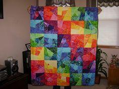 my first batik quilt...☺...