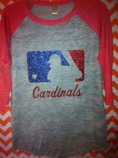 Cardinal Baseball Love by GroupieApparel on Etsy