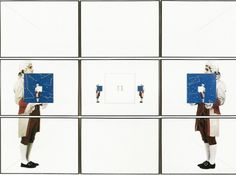 Giulio Paolini, 1992, Silk screen which is made up of nine pieces