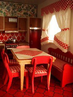 swedish farm kitchen | Vintage Lundby Stockholm kitchen by The Shopping Sherpa