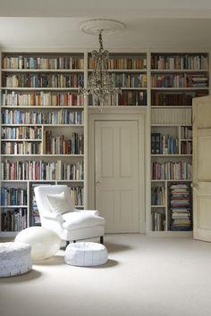 Bookshelves built around Door