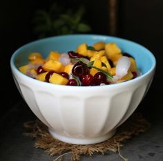 Fruit toppings salad