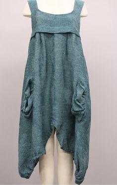 TRANSPARENTE EUROPEAN DESIGNS LAGENLOOK ARTSY TUNIC DRESS TURQUOISE $389 #TRANSPARENTE #Tunic