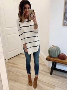 38 Smart Fall Outfits Ideas To Update Your Wardrobe - - Casual Winter Outfits Fall Winter Outfits, Autumn Winter Fashion, Spring Outfits, Summer Outfits For Work, Cold Spring Outfit, Spring Fashion Casual, Fall Fashion Outfits, Casual Fall Outfits, Fashion Boots