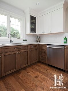 just the wood and white cabinets stained lower cabinets painted rh pinterest com White Gel Stain for Cabinets Best Stain for Cabinets