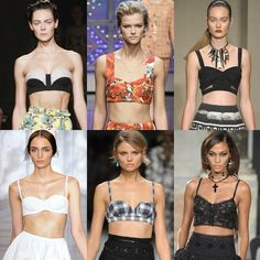 I love the Bra Top trend! It will definitely be a hot look for this summer. I might even try it with a bathing suit top and a matching skirt. I Love Fashion, Passion For Fashion, Retro Fashion, High Fashion, Spring Fashion Trends, Spring Trends, Fashion Photography Inspiration, Style Inspiration, Nineties Fashion