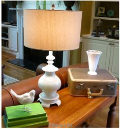 This lamp was formerly shiny brass and jade...look at how beautiful it is after a makeover