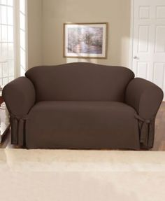 Sure Fit Duck Sofa Slipcover   Green