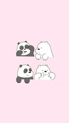 We Bare Bears who is your favourite bear? mine is Ice Bear🙆 Cute Panda Wallpaper, Bear Wallpaper, Kawaii Wallpaper, Screen Wallpaper, Pink Wallpaper Cartoon, We Bare Bears Wallpapers, Panda Wallpapers, Cute Cartoon Wallpapers, Moving Wallpapers