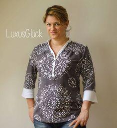 Schnittmuster / Ebook lillesol women No.5 Blusenshirt Jersey / Nähen Bluse / Shirt / Damen / Sewing pattern blouse
