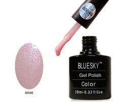 Bluesky Gel Polish Grapefruit Sparkle 40546 - UV Gel Soak off Nail Polish Bluesky Nails, Bluesky Gel Polish, Uv Gel Nail Polish, Shellac Nails, Pink Nails, Acrylic Nails, Gel Polish Colors, Gel Color