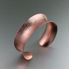 Anticlastic Texturized Copper Cuff Bracelet - Copper Jewelry Blog