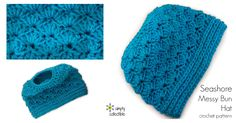 Seashore Messy Bun Hat free crochet pattern This messy bun hat crochet pattern is my favorite design so far! I promised... I just can't stop designing them and everyone is loving them. Meet the Seashore messy bun hat crochet pattern. I promised... I just can't stop designing them and everyone is lo