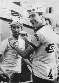 """Shave before you ride"" Julio Jimenez and Felice Gimondi, Giro."