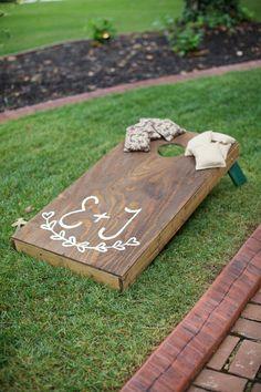Wedding Corn Hole on Pinterest | Wedding Cornhole Boards, Wedding ...