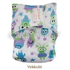 Pocket diaper, print