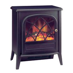 Dimplex Ritz Portable Electric Fire with Optiflame Log Effect Heater - plug in, instant fireplace! Dimplex Electric Fires, Duraflame Electric Fireplace, Dimplex Electric Fireplace, Electric Fireplace Heater, Electric Stove, Shiplap Fireplace, Home Fireplace, Fireplace Inserts, Double Sided Electric Fireplace