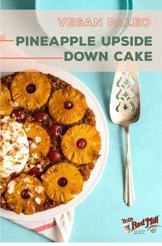 Vegan Paleo Pineapple Upside-Down Cake Recipe Paleo Recipes Easy, Cake Recipes, Apple Muffins, Pineapple Upside Down Cake, Paleo Breakfast, Paleo Dessert, Healthy Fats, Paleo Diet, Easy Meals