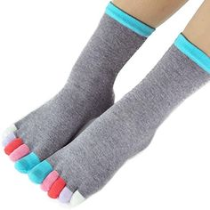 Women Soft Cotton Socks Toe Socks Dress Socks Candy Color Fabric: cotton Soft and cozy wearing with elastic Pure candy color, match with various clothes Size: Free (fit most for Women For more cool and sweet socks, check our store Finger Cartoon, Cute Cartoon, Funky Fingers, Cartoon Flowers, Toe Socks, Fashion Tights, Dress Socks, Cotton Socks, Candy Colors