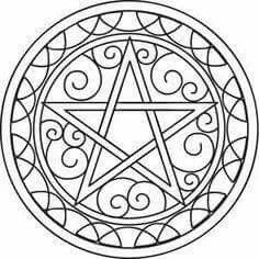 Pentacle coloring page