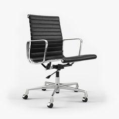 Vitra Charles & Ray Eames Aluminium Chair EA 117 I 3D