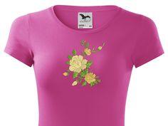 tričko vyšívané ruža - Vyšívané odevy - LaserDesign s.r.o. - Reklamná tlač