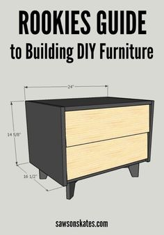So you want to build some DIY furniture, but need some ideas to get started? This beginners guide tells you everything you need to know about building DIY furniture - Common mistakes to avoid, must have tools, how to setup a workshop, proper DIY techniques, DIY terminology, finishing ideas, resources, what to do with the leftover scrap wood and more.