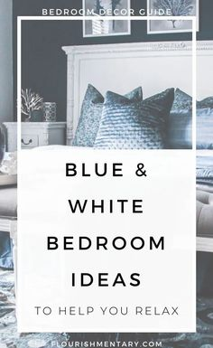 We could all use a little less stress when when hit the sheets, which is why I'm sharing some of the best blue & white bedroom decor ideas to help! The right shade can help relax your mind, slow your heart rate, and even reduce feelings of anxiety.The past few years The mix of calming hues are both beautiful and tranquil – and you can use these simple tips to try out the look in your bedroom! Elegant Bedroom Design, Bedroom Design Inspiration, Master Bedroom Design, Design Ideas, White Bedroom Decor, Bedroom Ideas, Bedroom Inspo, Apartment Decorating On A Budget, Decorating Tips