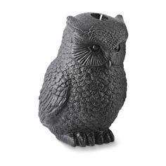Halloween Owl Candle (€62) ❤ liked on Polyvore featuring home, home decor, williams-sonoma, halloween home decor, owl home accessories and owl home decor