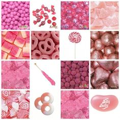 Pink candy ideas for candy buffet